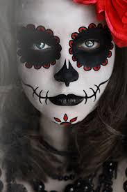Skeleton Face Painting For Halloween by