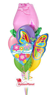 same day balloon delivery s day pink butterfly balloon bouquet 9 balloons