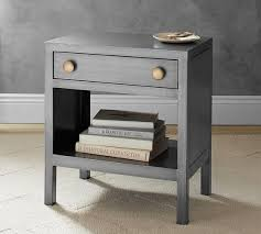 Metal Nightstands With Drawers Metal One Drawer Bedside Table