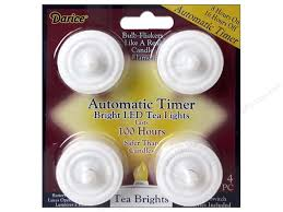 led tea lights with timer darice bright led tea light w timer100 hours 4pc createforless