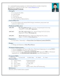 Civil Engineering Resume Examples Download Experienced Mechanical Engineer Sample Resume