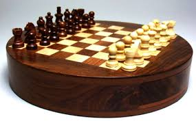 Buy Chess Set Magnetic Chess India Magnetic Wooden Chess Set Magnetic Round