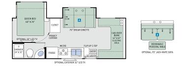 Sprinter Travel Trailer Floor Plans by Floor Plans Four Winds Sprinter 24fs