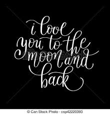 i you to the moon and back handwritten calligraphy eps