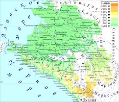 Russia Physical Map Physical Map by Krasnodar Map
