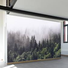 Forest Mural by Misty Forest Wall Mural 100
