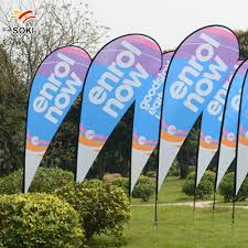 Flag Stands Outdoor 2 8m Beach Flag Outdoor Advertising Trade Show Flag Pole Teardrop