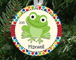 frog ornaments etsy