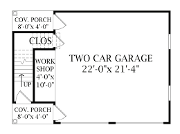 garage floorplans two story garage 6332 the house designers