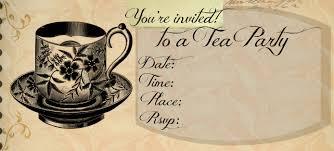 free printable tea party invitations cimvitation