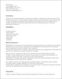 resume templates customer service free professional resume templates livecareer