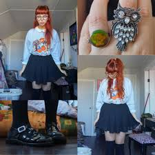 halloween knee socks molly girard ebay jelly shoes thrifted halloween sweater