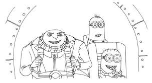 despicable coloring pages minions despicable coloring
