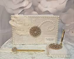 ivory wedding guest book wedding guest books etsy