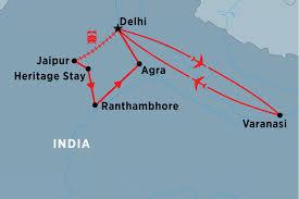Agra India Map by Golden Triangle U0026 Varanasi India Tours Peregrine Adventures Us