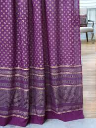 Sari Fabric Curtains Indian Sari Curtain Purple Gold Saffron Marigold