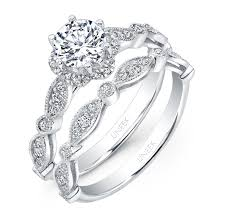 scalloped engagement ring uneek nouveau inspired engagement ring with
