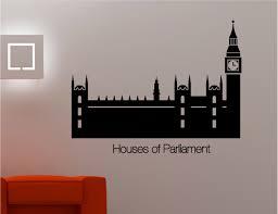 houses of parliament big ben wall art sticker decal lounge kitchen