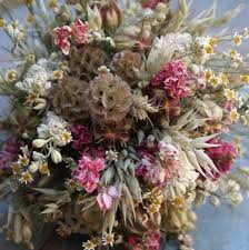 Dry Flowers Country Dried Flower Wedding Bouquet By The Artisan Dried Flower