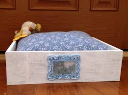 diy shabby chic pet bed mr darcy s shabby chic pet bed diy tutorial donawerth