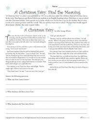 a christmas fairy reading comprehension worksheet reading
