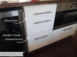 Organizing The Kitchen Part One - Kitchen cabinet garbage drawer