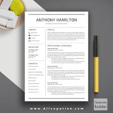 Job Resume Format In Ms Word by Charming Creative Resume Template Cv Cover Letter 1 2 3 Page One