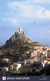 the burgos goceano old castle 1100 age near nuoro sardinia