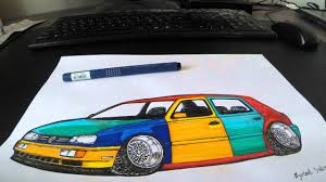 volkswagen harlequin speed drawing vw golf harlequin youtube