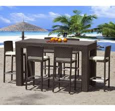 High Patio Chairs High Top Patio Table With Swivel Chairs And Cover Umbrella