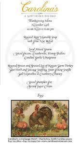 charleston restaurant thanksgiving menus charleston retirement