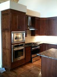 wall oven micro cabinet w authentic side panel diamond rustic