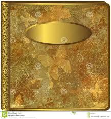 gold photo album gold leaf album cover stock illustration illustration of
