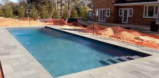 50 u2032 gunite lap pool installation quogue ny u2013 patricks pools