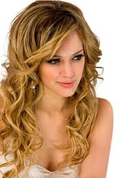prom hairstyles for short hair with side swept bangs for curly hair
