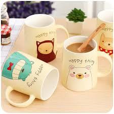 400ml cute cartoon animal mug creative ceramic cup porcelain