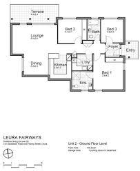 Unit Floor Plans Leura Fairways Floor Plans Self Contained 3 Bedroom Villas
