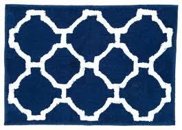 Navy Bath Mat Blue Bath Rug Tapinfluence Co