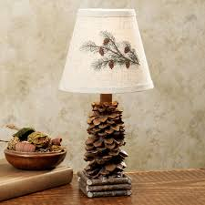 colorado pine cone rustic mini lamp