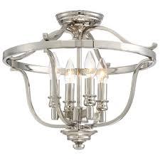 Ceiling Light Semi Flush Minka Lavery Audreys Point 4 Light Polished Nickel Semi Flush