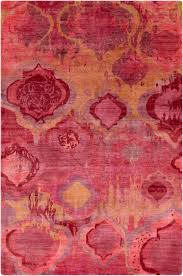 Red Area Rug by Surya Watercolor Wat5006 Red Area Rug Free Shipping