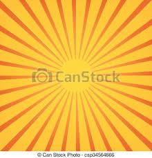 sun rays sunburst on orange background vector illustration
