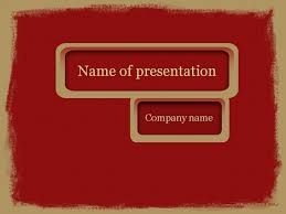 download free red paint powerpoint template for presentation