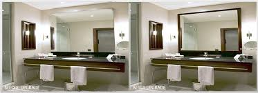 winsome frame an existing bathroom mirror kits for mirrors how to