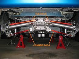 corvette rear suspension rod end style camber rods for your c4 corvette s rear suspension