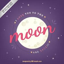 i you to the moon and back background vector free