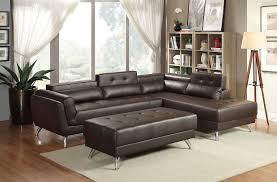 bonded leather sectional ottoman sofa set