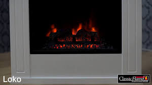 electric fireplace classic flame loko youtube