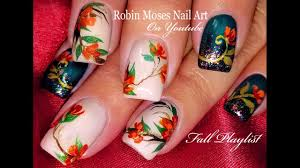 Nail Art Thanksgiving Thanksgiving Nails Diy Fall Flower Nail Art Design Tutorial