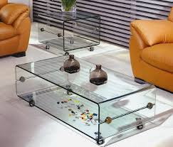 Glass Coffee Table With Wheels Tempered Glass Coffee Table With Wheels Glass Nest Tables Foshan